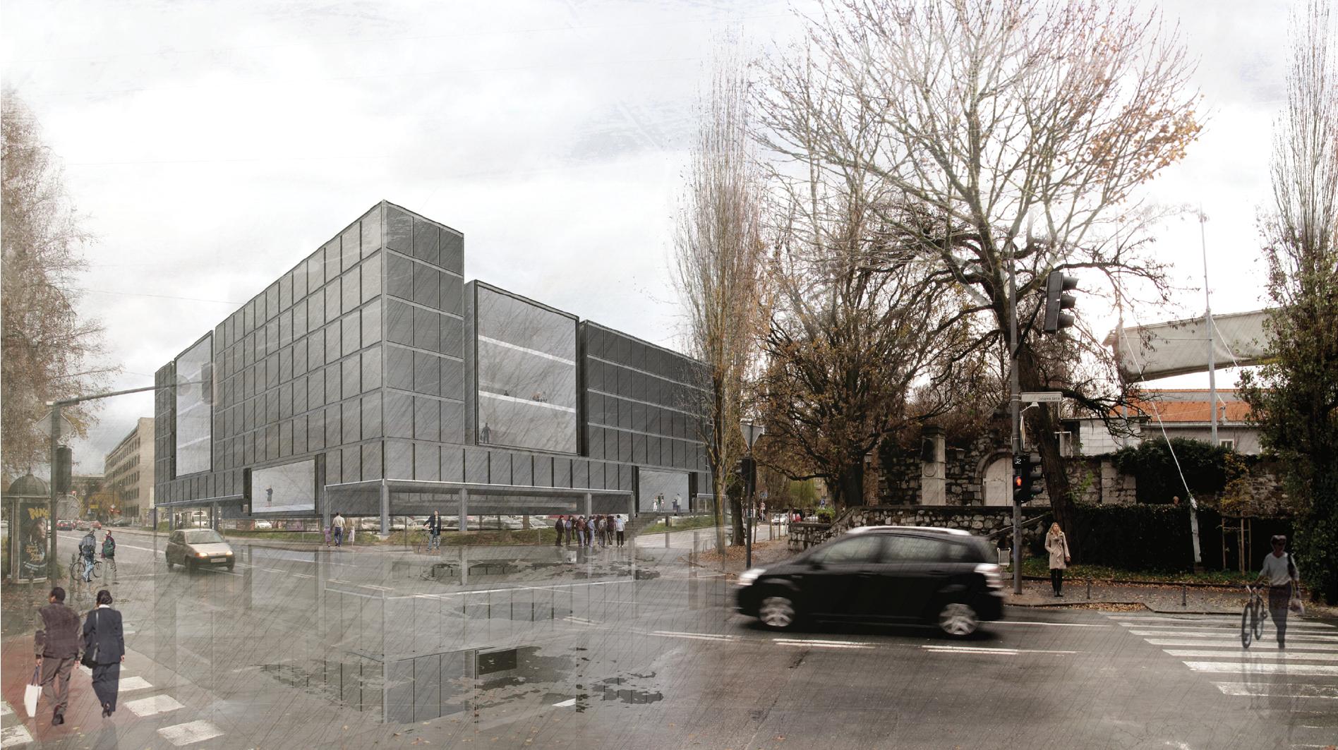 Daniela hartmann design national and university library for Oficinas seguridad social barcelona horarios